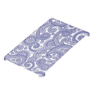 Paisley azul floral iPad mini funda