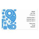 Paisley azul tarjetas de negocios