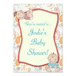 "Paisley Baby Shower Invitation 5"" X 7"" Invitation Card"