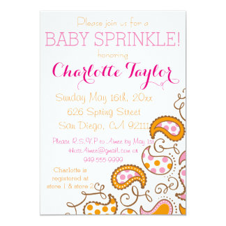 Paisley Baby Spinkle Card