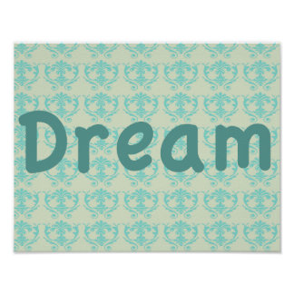 Paisley Background light Green Poster