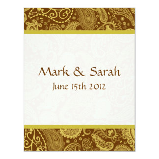 Paisley Banded Terra RSVP Card