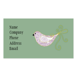paisley bird biz card Double-Sided standard business cards (Pack of 100)