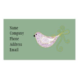 paisley bird biz card business card templates