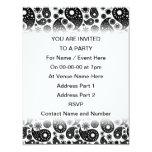 Paisley blanco y negro invitación 10,8 x 13,9 cm