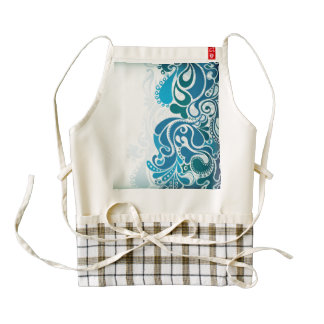 Paisley Blue Zazzle HEART Apron