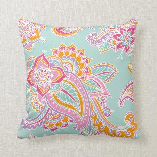 Paisley bohemia colorida cojín decorativo
