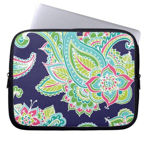 Paisley bohemia colorida fundas computadoras
