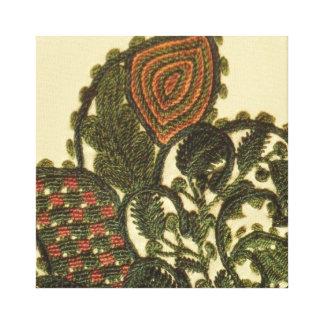 Paisley bohemia verde impresiones en lienzo estiradas
