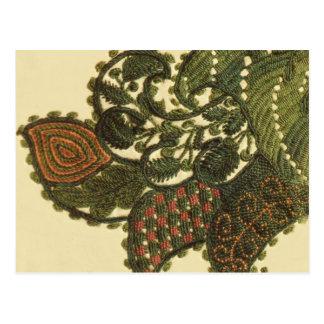 Paisley bohemia verde tarjetas postales