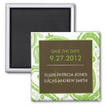 Paisley Border - Save The Date Refrigerator Magnet