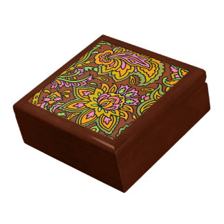 Paisley Brown Gift Box