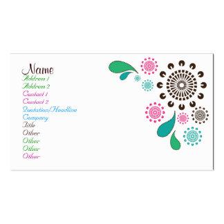 Paisley Burst Business Card