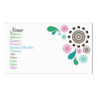 Paisley Burst Double-Sided Standard Business Cards (Pack Of 100)