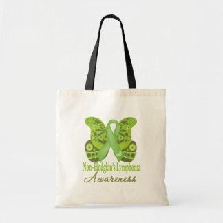 Paisley Butterfly - Non-Hodgkins Lymphoma Budget Tote Bag