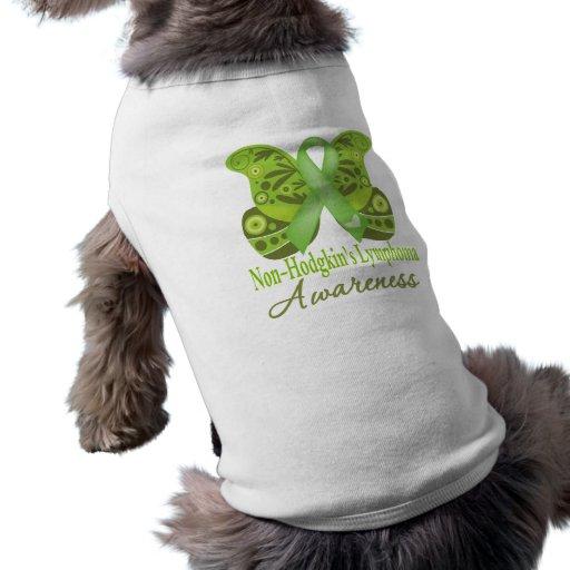 Paisley Butterfly - Non-Hodgkins Lymphoma Dog Tee Shirt