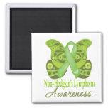 Paisley Butterfly - Non-Hodgkins Lymphoma Fridge Magnets