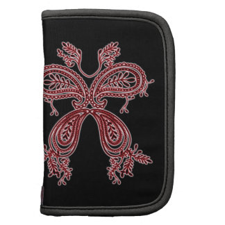 Paisley Butterfly Red Black Folio Planner