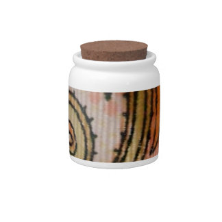 Paisley candy jar Indian home decor