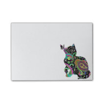Paisley cat and butterfly post-it notes