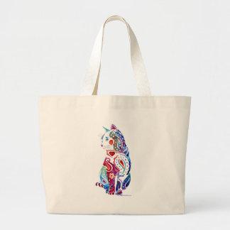 Paisley Cat Designs Large Tote Bag
