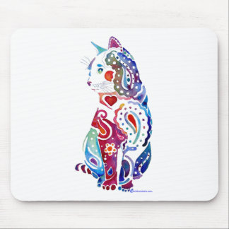 Paisley Cat Designs Mouse Pad