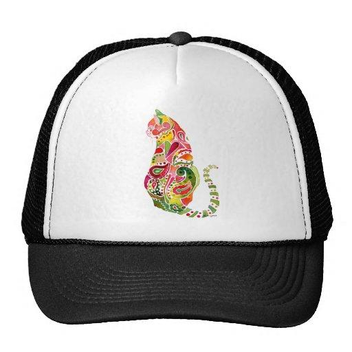 Paisley Cat Men's Cap Trucker Hats