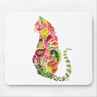 Paisley Cat  Mousepad