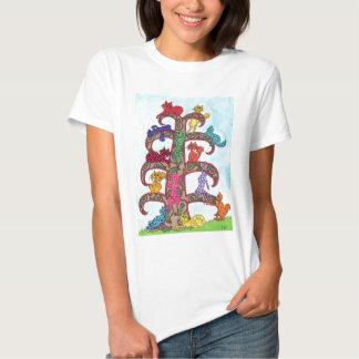 Paisley Cat Tree of Life T-shirts