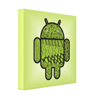 Paisley Character for the Android™ Robot Canvas Print