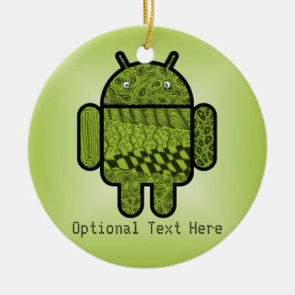 Paisley Character for the Android™ Robot Ceramic Ornament