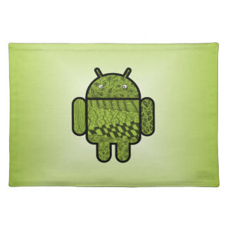 Paisley Character for the Android™ Robot Cloth Placemat