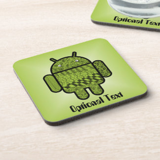 Paisley Character for the Android™ Robot Drink Coaster