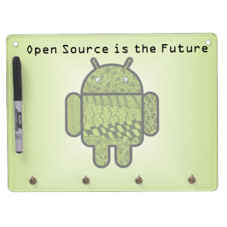 Paisley Character for the Android™ Robot Dry Erase Board With Keychain Holder