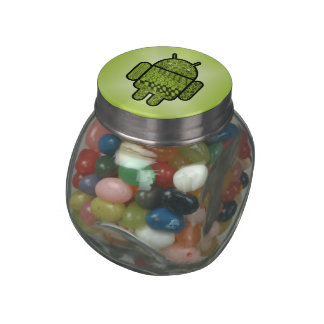 Paisley Character for the Android™ Robot Glass Candy Jars