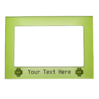 Paisley Character for the Android™ Robot Photo Frame Magnet
