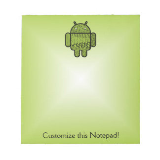 Paisley Character for the Android™ Robot Notepad