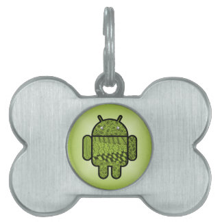 Paisley Character for the Android™ Robot Pet Name Tags