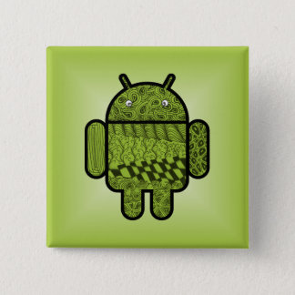 Paisley Character for the Android™ Robot Pinback Button
