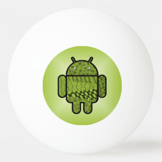 Paisley Character for the Android™ Robot Ping Pong Ball