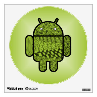 Paisley Character for the Android™ Robot Wall Sticker