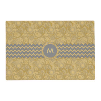 Paisley Chevron Monogram Gold PCMX Placemat