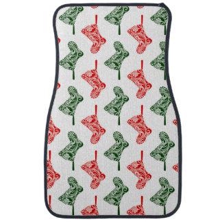 Paisley Christmas Stockings Car Mat