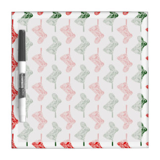 Paisley Christmas Stockings Dry-Erase Board