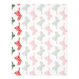 Paisley Christmas Stockings Letterhead