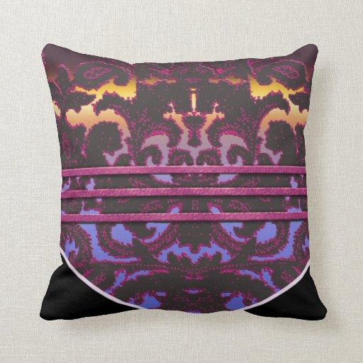 Paisley color de rosa almohada