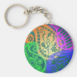 Paisley Colors Keychain
