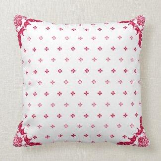 Paisley Corners Throw Pillow