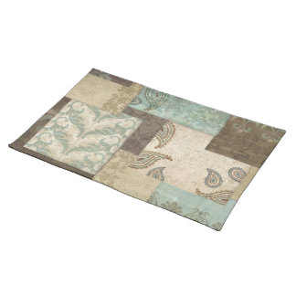 Paisley country rustic place mat
