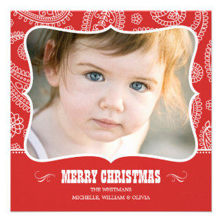 Paisley Cowboy Christmas Cards Personalized Announcements